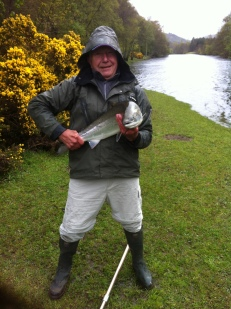 Brian Hall with this 13lb salmon