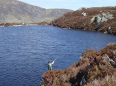 Charles Noxon casting at the Hill Loch