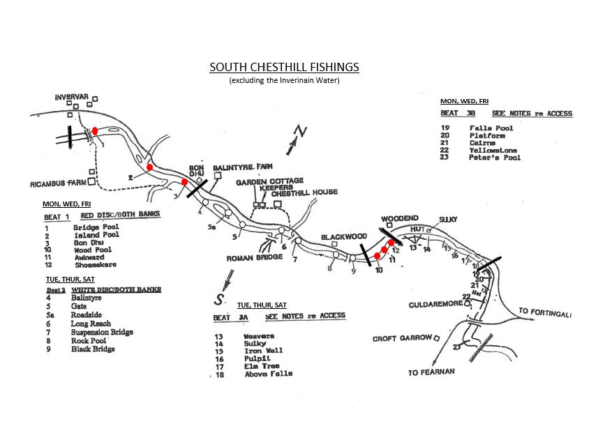 South Chesthill fishing map 2018